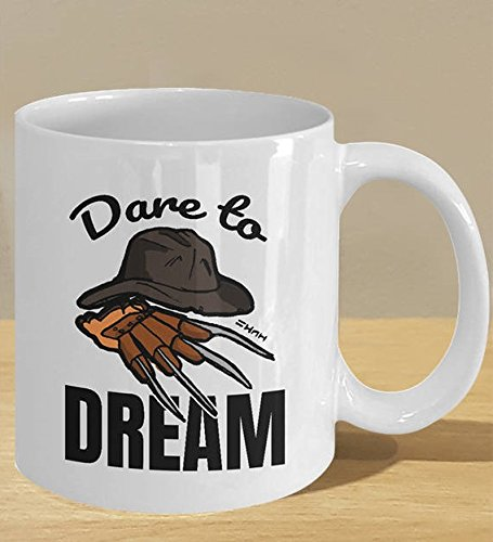 Nightmare Halloween Horror Movie Fan Gift, Dream Mug Decor Art, Halloween Costume Claw and Hat Mug, 11oz, 15oz, gift ()