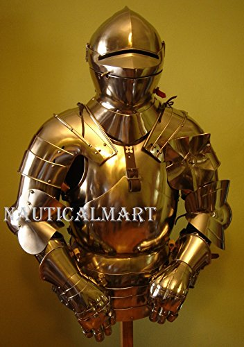 Armor Costume Steel Medieval Suit of Armor Breastplate with Helmet by NAUTICALMART (Image #3)