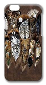 Animal Feathers Custom iphone 6 4.7 Case Cover Polycarbonate 3D