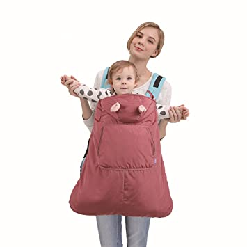 ef10b571b81 Amazon.com   ThreeH Baby Carrier Cover Warmer Outside Blanket Hoodie Water  Resistant Carrier Cover BC20
