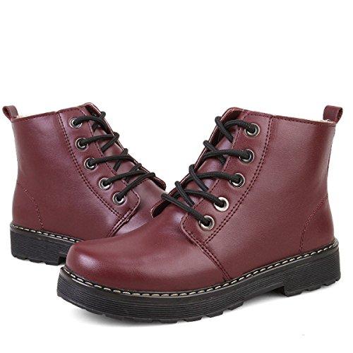 Wind Stiefel Spitzen Warm Und Stiefel Herbst Winter Martin Mode Schuhe Red q0YnFnAEWU