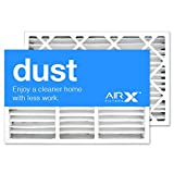 AIRx Filters Dust 16x25x5 Air Filter MERV 8 Replacement for Lennox X0583 X 6670 X6672 HCF160 to Fit Media Air Cleaner Cabinet Lennox Healthy Climate HCC16-28, 2-Pack