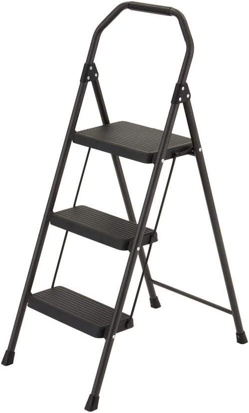 Gorilla Ladders 3-Step Compact Steel Step Stool with 225 lb. Load Capacity Type II Duty Rating