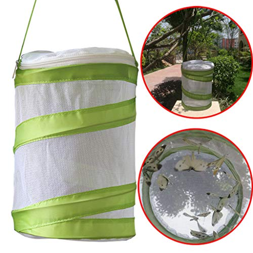 (Sunnyys 2PCS Portable Collapsible Insect and Butterfly Habitat cage Terrarium Open Butterfly Habitat Cage Housing Enclosure 14x18CM)