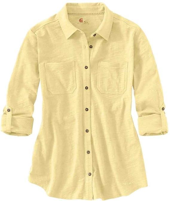Amazoncom Carhartt Womens Medina Knit Button Down Shirt Clothing