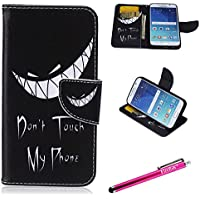 Galaxy S6 Case, Firefish S6 Case [Kickstand] [Leather Wallet] Bumper Lightweight Slim Shock Absorption [Magnetic Closure] for Samsung Galaxy S6 - Wired Smile