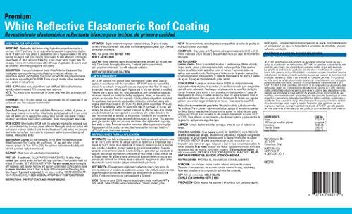 Jetcoat Cool King Elastomeric Acrylic Reflective Roof Coating, White, 5 Gallon, 10 Year Protection by Jetcoat (Image #4)