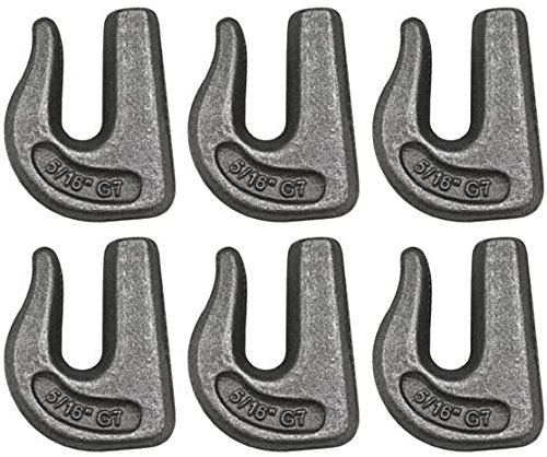 Set of 6 Grade 70 Weldable Grab Hook for 5//16 Chain Tow Weld on BA Products 11-516WGH-x6 Rigging