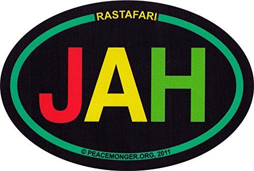 Jah Rastafari - Rasta / Reggae Bumper Sticker / Decal (6