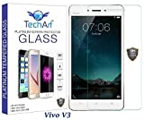 Vivo V3 Tempered Glass Screen Protector [PREMIUM FLEXIBLE Glass Series] with FREE Installation Kit Designed By TechArt®