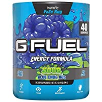 G Fuel Sour Blue Chug Rug Tub (40 Servings) Elite Energy and Endurance Formula Inspired by Faze Rug 10.44 oz.