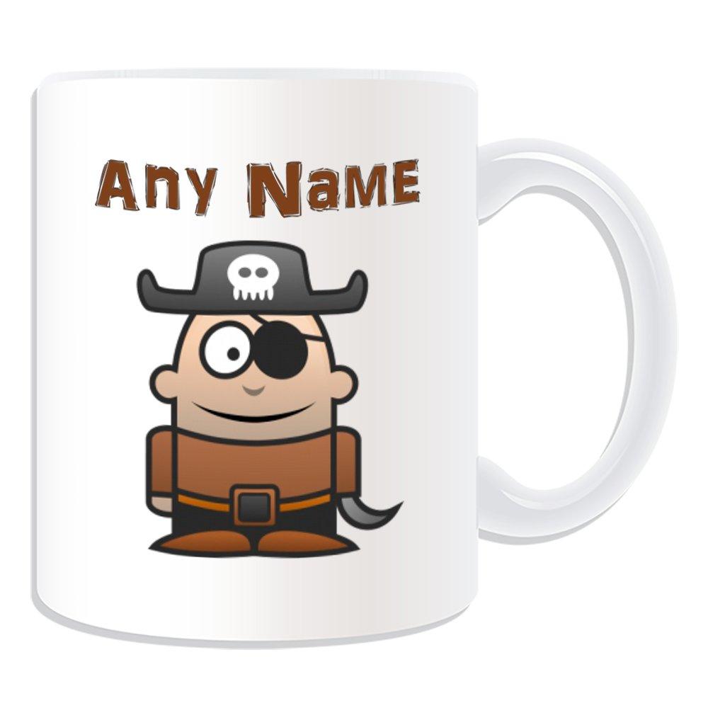 De regalo con mensaje personalizado - tuerto pirata taza (molde para hacer una diseño de, blanco) - el nombre/mensaje en el diseño de - Gorro para parche ...