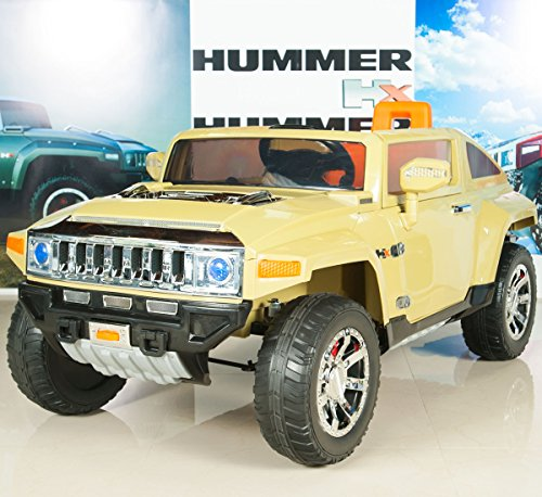 On Truck/Car 12V Electric Powered Wheels with RC Remote Control - Olive (Hummer Pedal Car)