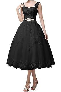 b095ba0652a Jdress Women s Vintage Short Tea Length Lace Wedding Dresses for Bride 2018
