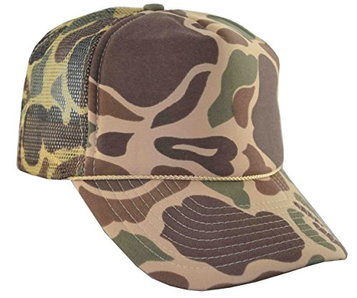 Cap Adjustable Mesh Trucker (NIS Men's Summer Mesh Trucker Adjustable Cap Camouflage (Brown Camo))