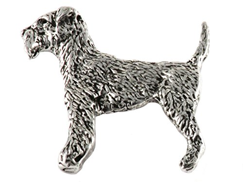 Airedale Terrier Dog Pewter Lapel Pin, Brooch, Jewelry, D302F