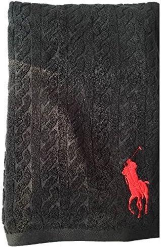 Ralph Lauren Juego de Toallas de Polo Negro Big Pony baño ...
