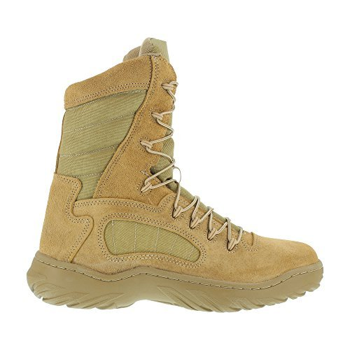 Reebok Womens Desert Tan Leather Tactical Boots Fusion Max 8in Military 8.5 W by Reebok