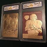 "(2) TOM BRADY ""SIGNATURE SERIES"" 23KT GOLD RETRO ROOKIE CARD LOT! WCG GEM MT 10!"