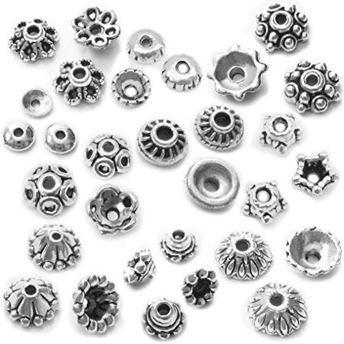 Silver Bead Caps 600 Pieces Fit 4mm-18mm Round Beads for Jewelry Making