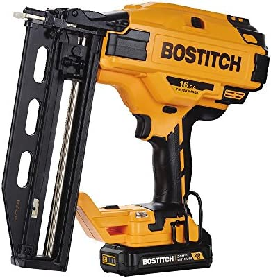 BOSTITCH BCN662D1 20V MAX 16 Gauge Cordless Straight Finish Nailer Includes Battery and Charger