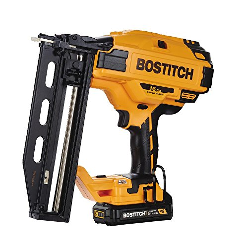 BOSTITCH BCN662D1 20V MAX 16 Gauge Cordless Straight Finish Nailer (Includes Battery and Charger)