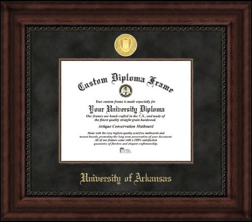(Campus Images AR999EXM University of Arkansas Executive Diploma Frame, 8.5