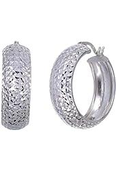 Vir Jewels Sterling Silver Hoop Earrings 3/4 Inch)