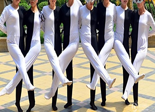 f17bafc282db Youtei Black and White Optical Illusion Tights Dance Costume  (5.4feet(165cm), White and Black)