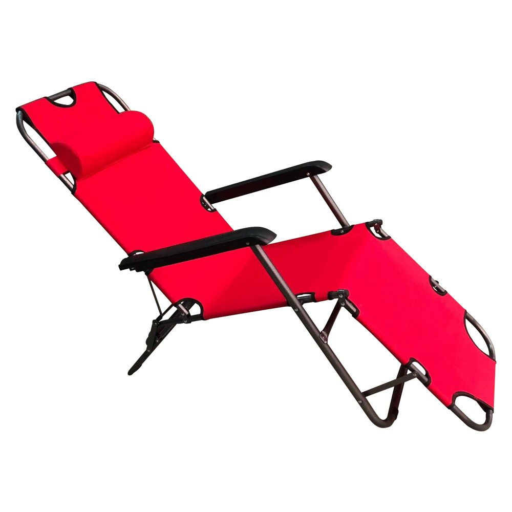 ALEKO FCBC3R Foldable Zero Gravity Camping and Lounge Chair Red