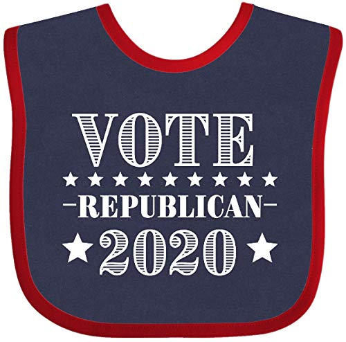 Inktastic - Vote Republican 2020 Baby Bib Navy and Red 33b16