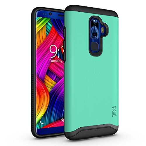 Nuu Mobile G3 Case, TUDIA Slim-Fit HEAVY DUTY [MERGE] EXTREME Protection/Rugged but Slim Dual Layer Case for Nuu Mobile G3 Android Smartphone (Mint)