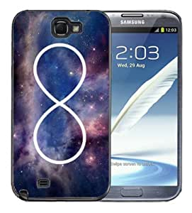Samsung Galaxy Note 2 Black PC Silicone Case - infinity Galaxy Nebula Case for iPhone 4 or 4S WANGJING JINDA
