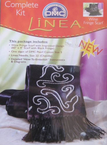 Linea Wine Fringe Scarf: Complete Craft ()