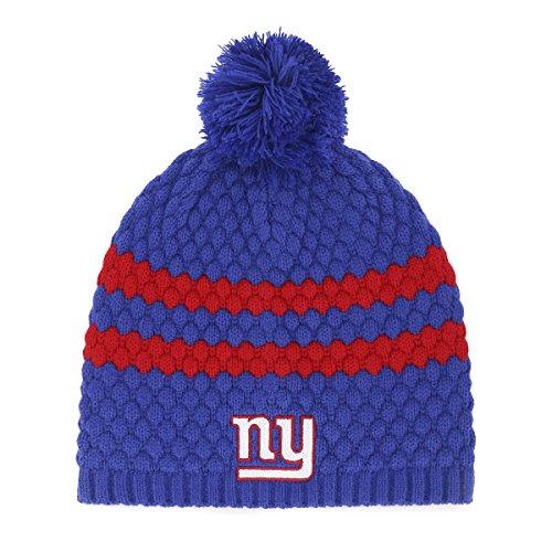 NFL New York Giants Women's Winona OTS Beanie Knit Cap with Pom, Royal, Women's