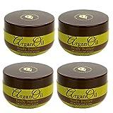Argan Oil (4-Pack) Body Butter Moroccan Moisturizer Skin Cream 8.5 oz Anti-Aging Lotion