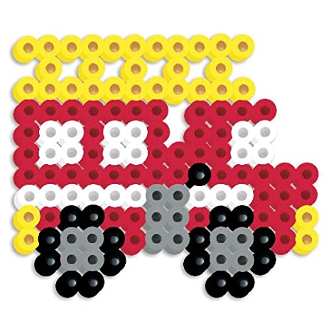 Perler Beads Silicone Pegboard Fused Bead Kit Fire Truck Amazon