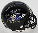 "Quinton Aaron Signed Ravens Mini Helmet Inscribed ""The Blind Side"""