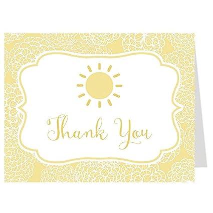 Sol, tarjetas de agradecimiento, Baby Shower, Cumpleaños, Amarillo ...