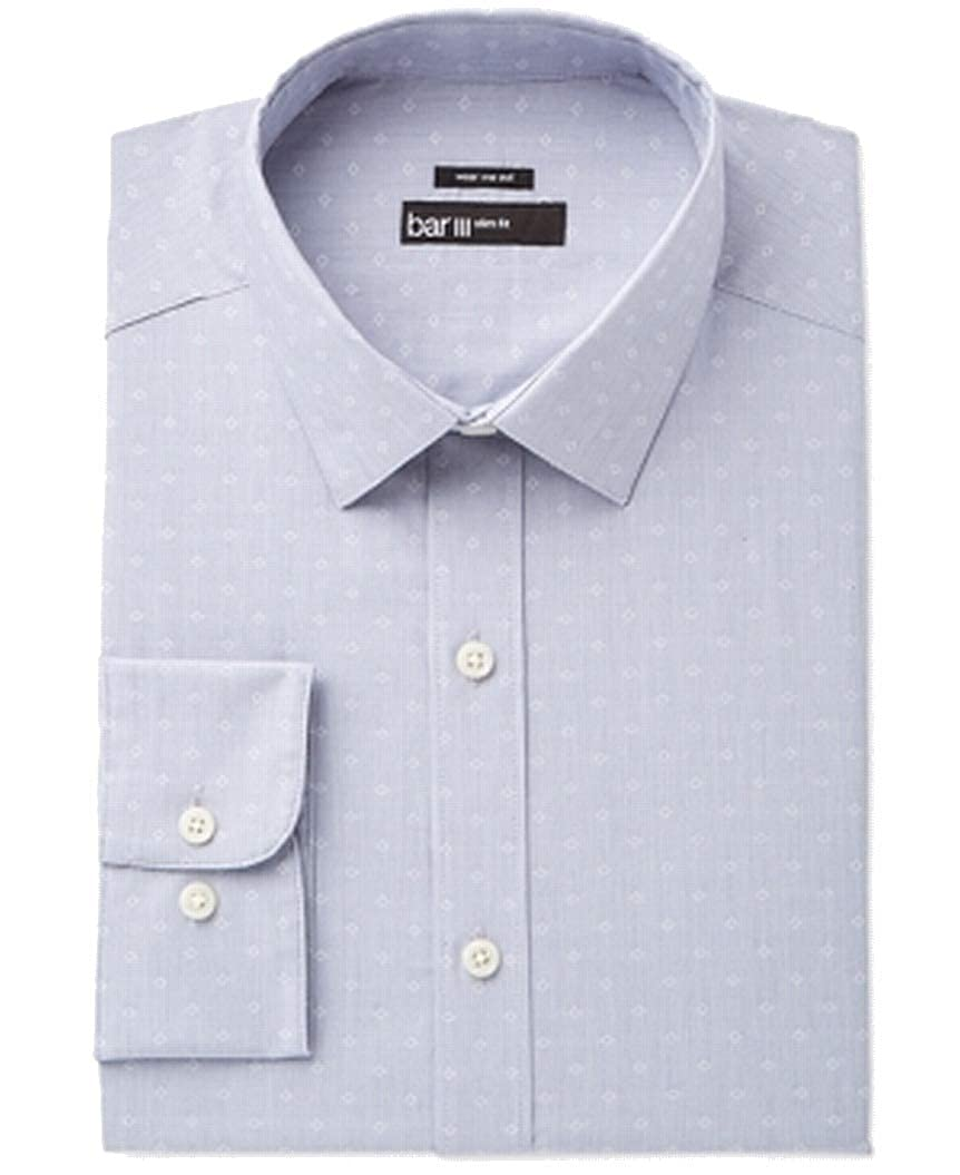Bar III Mens Slim Fit Button Up Dress Shirt