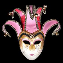 K&C Hand Painted Halloween Masquerade Venice Party Lace Mask