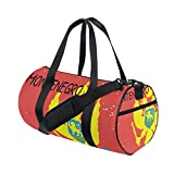 Distressed Montenegro Flag Travel Duffel Shoulder Bag ,Sports Gym Fitness Bags
