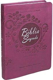 Bíblia Sagrada Letra Grande com índice - Couro sintético Vinho: Almeida Revista e Atualizada (ARA)