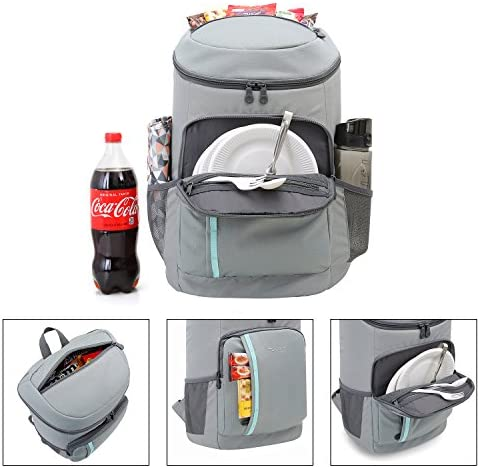 TOURIT Cooler Backpack 30 Cans Lightweight Insulated Backpack Cooler Leak-Proof Soft Cooler Bag Large Capacity for Men Women to Picnics, Camping, Hiking, Beach, Park or Day Trips 3
