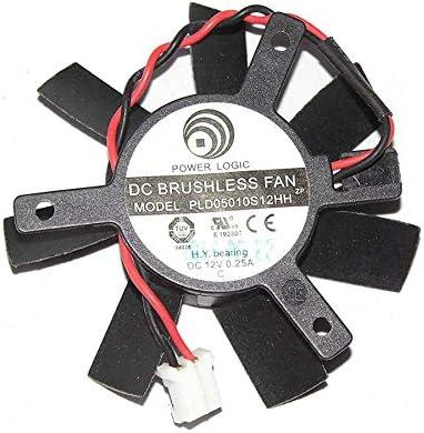 Cooler Fan for Logic PLD05010S12HH 12V 0.25A 2Wire for Sapphire HD7750 Video Fan
