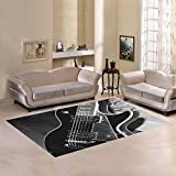 Love Nature Sweet Home Modern Collection Custom Guitar Area Rug 5'x3'3'' Indoor Soft Carpet
