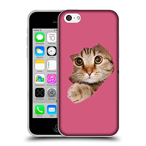 GoGoMobile Coque de Protection TPU Silicone Case pour // Q05670614 Trou papier chat Arrossire // Apple iPhone 5C