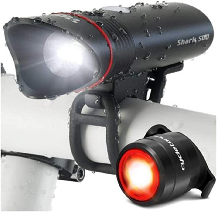 Hwealth Cycle Torch Shark 500 USB Rechargeable LED Bicycle Head Light