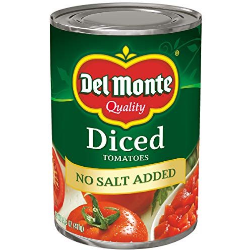 Price comparison product image Del Monte Diced Tomatoes No Salt Added,  14.5-Ounce (Pack of 12)