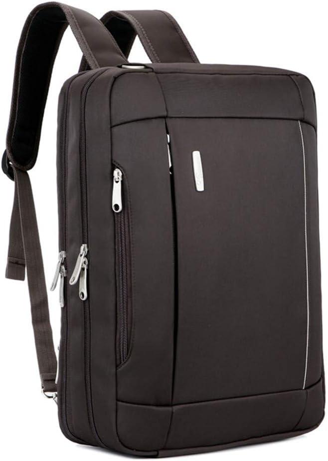 Camera Bag 17inch LHQ-Camera Bag Durable Mens 3-Way Briefcase Shoulder Portable Diagonal Backpack Computer Bag Color : Brown